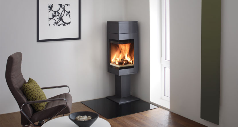 quadro 1 corner wood burning stoves nordpeis stoves uk. Black Bedroom Furniture Sets. Home Design Ideas